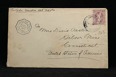 Uruguay: 1900 French Paquebot Packet Boat Cover to the USA, Octagonal Strike