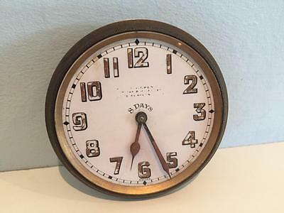 Antique 8 Day Brevet Pocket / Travel / Car Clock 33238