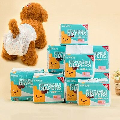 New Pet Diapers Female Dog Leak-Proof Nappy Puppy Menstrual Sanitary Pants 1 Bag