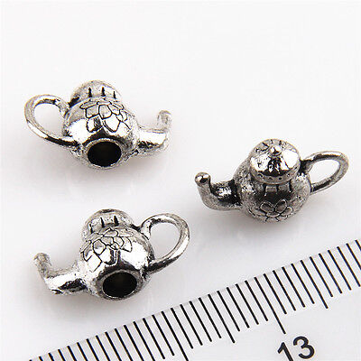 Lot 10-100Pcs Teapot #3 Antique Silver Charms Wine Pot Flask For DIY Making