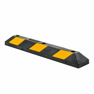 """36"""" Rubber Curb Block Wheel Stop for Garage Driveway or Car Parking Lot"""