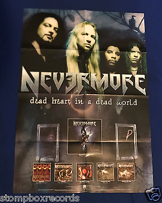 vintage 2000 Nevermore Dead Heart In World LP PROMo POSTER Century Media 23x32in