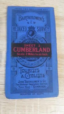 "c1920 ""BARTHOLOMEW'S MAP OF CUMBERLAND - SHEET 3"" 1/2 INCH TO ONE MILE"
