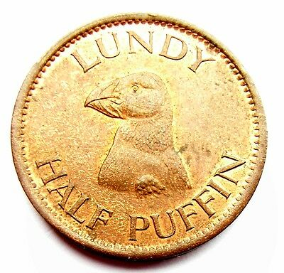 Lundy Half Puffin 1929 Uncirculated