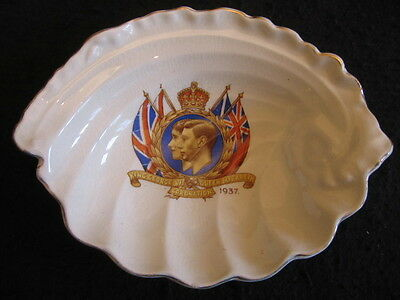 COMM' 'SHELL' SOAP DISH  CORONATION of GEORGE VI 1937 EX