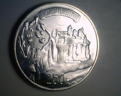 Luxembourg 1963 Silver 250 Franc - Choice Brilliant Uncirculated