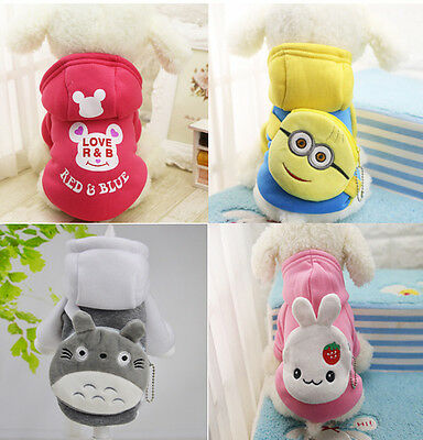 New Small Pet Dog Cat Puppy Sweater Casual Hoodie Coat Warm Costume Apparel