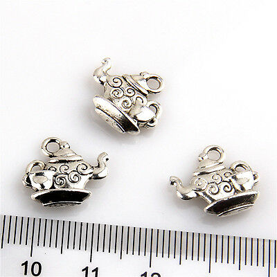 Lot 10-150Pcs Teapot #6 Antique Silver Charms Wine Pot Flask For DIY Making