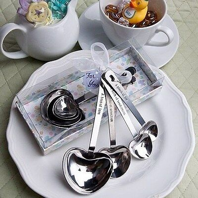 30 Heart Shaped Baby-Themed Measuring Spoons Shower Gift Favors