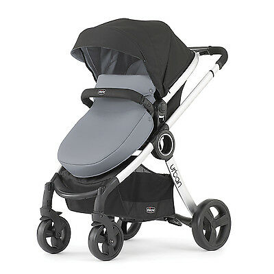 Chicco 6-in-1 Expandable Canopy Compact Fold Frame Urban Modular Stroller, Coal