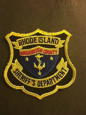 Washington County Rhode Island Sheriff  Shoulder Patch