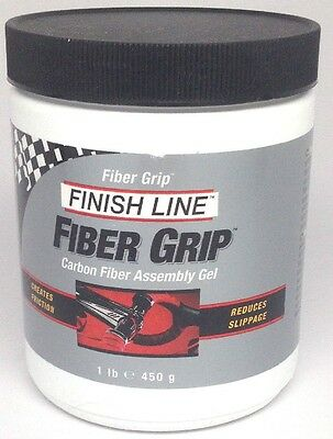 One Pound Lb. Jar Finish Line Bicycle Carbon Fiber Grip Install Paste New