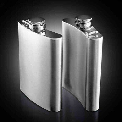 7 8 10 oz Portable Stainless Steel Hip Flask Whiskey Alcohol Liquor Bottle Gifts