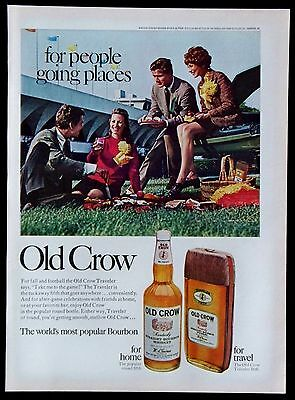 Vintage 1968 Old Crow Kentucky Straight Bourbon Whiskey Magazine Ad