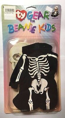Vintage Ty Gear for Beanie Kids Clothing Outfit Set Skeleton