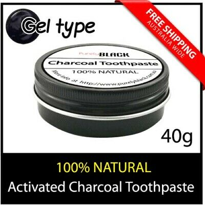 2 x 40g Activated Charcoal Black Toothpaste Teeth Whitening 100% Natural Care