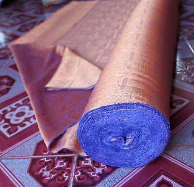 "Textured Thai Silk Fabric - Orange Violet - 47 "" x 1Yard"