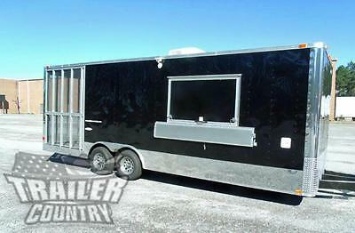 NEW 8.5 X 24 Enclosed Food Vending Mobile Kitchen Concession Catering Trailer