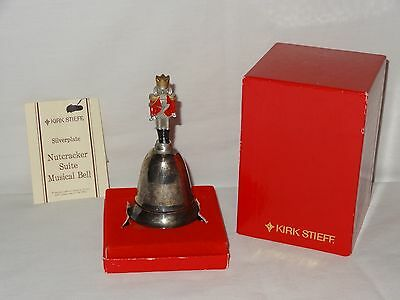 Rare Kirk Stieff Silverplate Musical Nutcracker Christmas Bell Sound is slow..