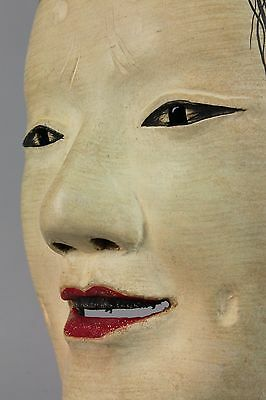 Japanese Noh Mask depicting Masugami  character signed  H67