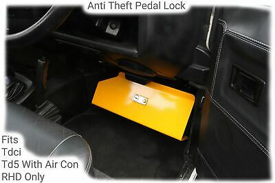 Anti Theft Pedal Lock to fit Land Rover Defender Tdci PUMA from 2007 to 2016