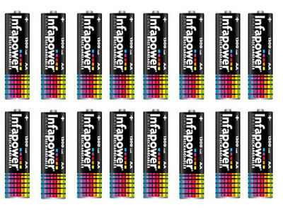 16 x AA SIZE INFAPOWER RECHARGEABLE BATTERIES 1.2V 600MAH NIMH READY TO USE
