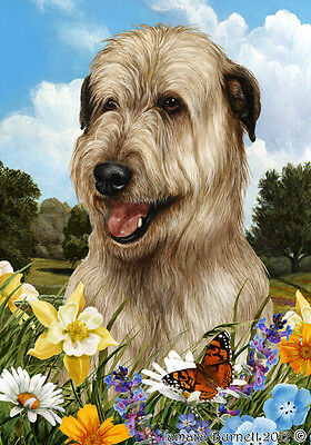Garden Indoor/Outdoor Summer Flag - Fawn Irish Wolfhound 183301