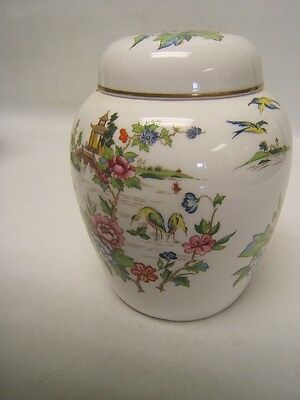"""Crown Staffordshire """"Pagoda"""" Ginger Jar w/ Lid 5"""" tall VGC Made in England"""