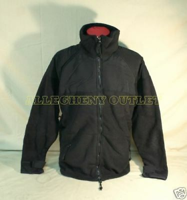 Made in USA PolarTec 300 Cold Weather Military Fleece Jacket Black Sz Large VGC
