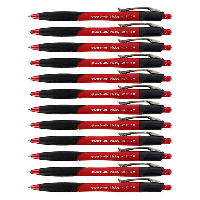 Paper Mate InkJoy 500RT Retractable Ball Point Pen, Medium, Red Ink, Pack of 12