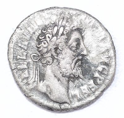 AUTHENTIC COMMODUS ROMAN COIN , AR Silver Denarius -  rev. Aequitas - A833