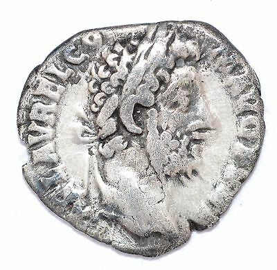AUTHENTIC COMMODUS ROMAN COIN , AR Silver Denarius -  rev. Sacrifice - A839