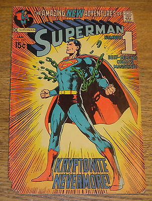 Vintage 1971 Superman Kryptonite Nevermore! Comic Book No. 233 - Worn