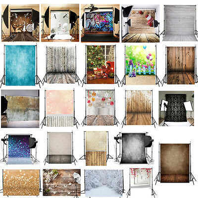 5x7FT Wood Wall Photography Backdrop Photo Background Studio Props Xmas Decor