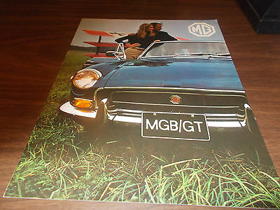 1971 MGB/GT 8-page Sales Catalog