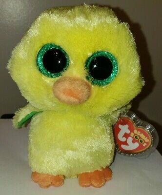 "Ty Beanie Boos ~ NUGGET the Chick ~ 6"" MWMT Easter Exclusive ~ IN HAND"