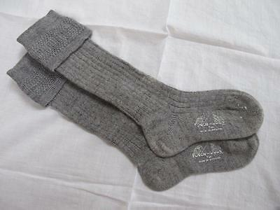 VINTAGE 1940's WW2 ERA GREY YOUNG BOYS SCHOOL EVACUEE SOCKS - SIZE 7""