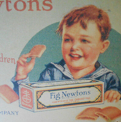 "Fig Newton Cookies tin wall art Sign~vtg Bristolware~ 16"" x 10"" advertising"