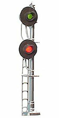 HO Scale Block Signal 2-Head LED Searchlight Type Tomar H859