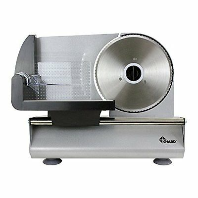 Powerful Electric Meat Slicer (150W) Stainless Steel Serrated Blade by Chard