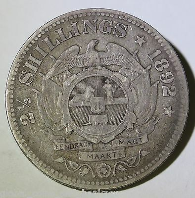 South Africa 1892 2 Half Shillings  (2 1/2) - Silver Coin
