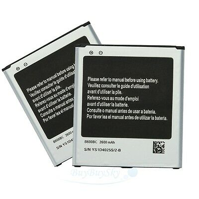 2x 2600mAh Rechargeable Replacement Battery for Samsung Galaxy S4 I9500 B600BC