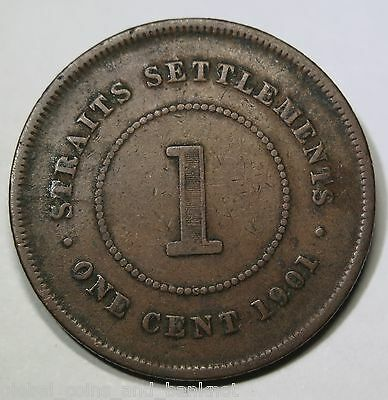 Straits Settlements - 1901 1 Cent , About Very Fine
