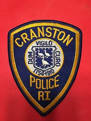 Cranston  Rhode Island  Police  Shoulder  Patch