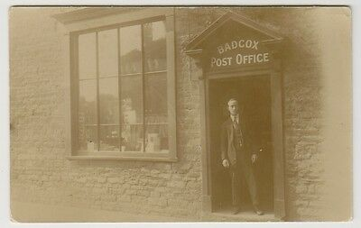 Somerset postcard - Badcox Post Office, near Frome - RP