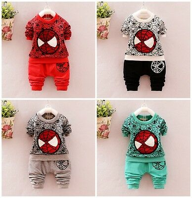1set Baby Clothes kids boys fall soft cotton outfits casual suit top&pants cool