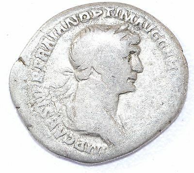 AUTHENTIC TRAJAN ROMAN COIN, AR Silver Denarius, Rv. SPQR - A869