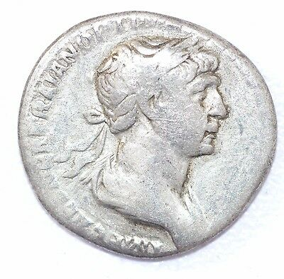 AUTHENTIC TRAJAN ROMAN COIN, AR Silver Denarius, Rv. coin - A874