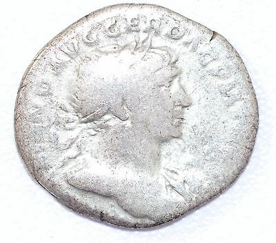 AUTHENTIC TRAJAN ROMAN COIN, AR Silver Denarius, Rv. Optimo Principi - A876