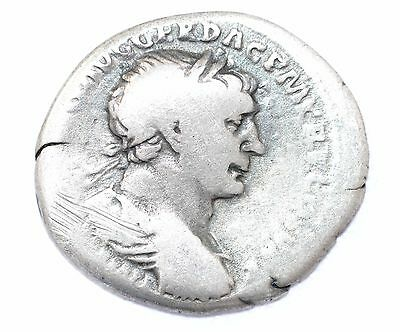 AUTHENTIC TRAJAN ROMAN COIN, AR Silver Denarius, Rv. SPQR - A879